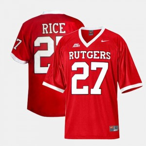 #27 Youth(Kids) College Football Red Ray Rice Rutgers Jersey 435724-850