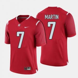 Robert Martin Rutgers Jersey Red College Football #7 Mens 586508-792