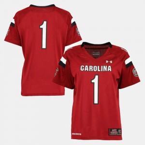 #1 South Carolina Jersey College Football For Women Garnet 816436-694