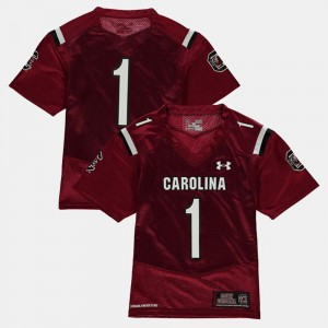 South Carolina Jersey #1 College Football Garnet For Kids 881411-872