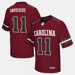College Football South Carolina Jersey #11 Men's Garnet 883431-159