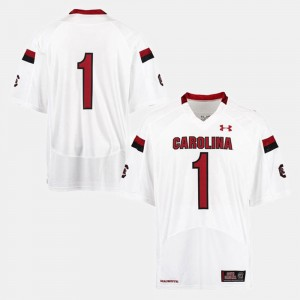 White For Men's #1 College Football South Carolina Jersey 847954-523
