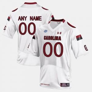 White College Limited Football Men's South Carolina Custom Jersey #00 320564-144