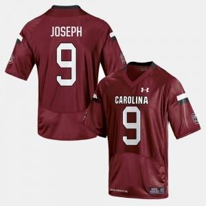 Men's Cardinal College Football Johnathan Joseph South Carolina Jersey #9 789022-473