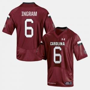 Men's Cardinal College Football Melvin Ingram South Carolina Jersey #6 629278-947