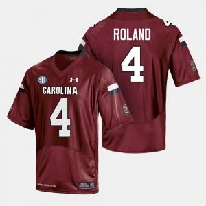 College Football Men's Cardinal Shaq Roland South Carolina Jersey #4 923533-632