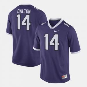Men's #14 Andy Dalton TCU Jersey Alumni Football Game Purple 622720-324