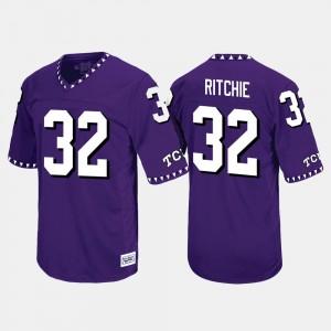 Purple #32 For Men Throwback Brandon Ritchie TCU Jersey 663065-721