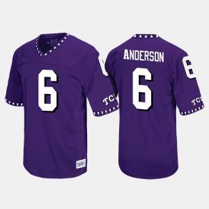 Throwback Men #6 Purple Darius Anderson TCU Jersey 509587-933