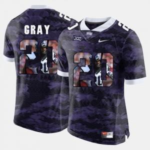 High-School Pride Pictorial Limited For Men #20 Deante Gray TCU Jersey Purple 736304-491