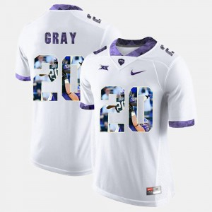 For Men's #20 White High-School Pride Pictorial Limited Deante Gray TCU Jersey 839460-767