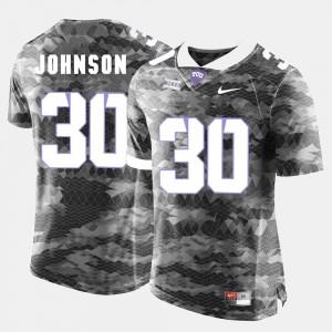 Denzel Johnson TCU Jersey Grey #30 College Football For Men 131541-732