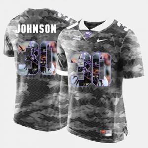#30 For Men High-School Pride Pictorial Limited Denzel Johnson TCU Jersey Grey 200619-573