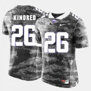 College Football Derrick Kindred TCU Jersey #26 Mens Grey 934424-369
