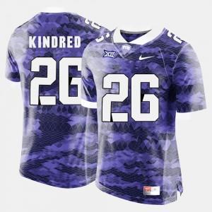 Purple #26 Men's College Football Derrick Kindred TCU Jersey 556356-656