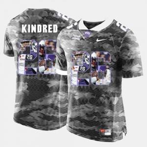 Derrick Kindred TCU Jersey For Men Grey #26 High-School Pride Pictorial Limited 143673-849