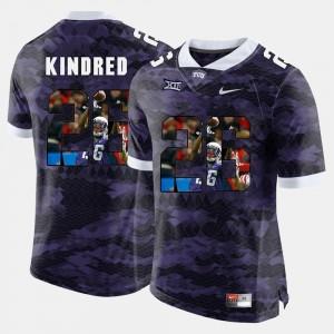Purple For Men #26 Derrick Kindred TCU Jersey High-School Pride Pictorial Limited 163297-733