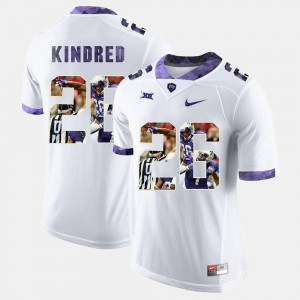White Derrick Kindred TCU Jersey High-School Pride Pictorial Limited #26 For Men 810233-796