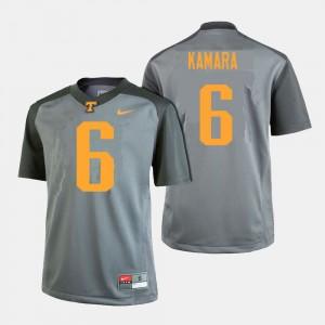 Alvin Kamara UT Jersey #6 College Football Gray Mens 820264-154