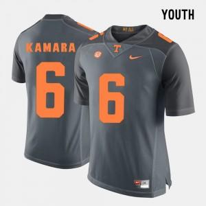 #6 Youth Alvin Kamara UT Jersey College Football Grey 293953-296