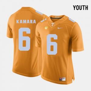 College Football #6 Youth Alvin Kamara UT Jersey Orange 480080-247
