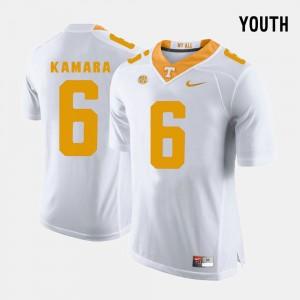 Youth(Kids) White Alvin Kamara UT Jersey College Football #6 579994-927