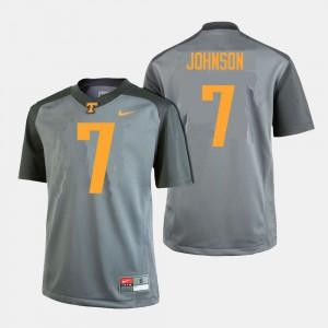 College Football #7 Gray Brandon Johnson UT Jersey For Men's 377531-114