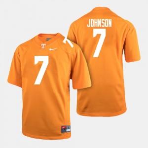 Brandon Johnson UT Jersey College Football Orange Men #7 688360-587