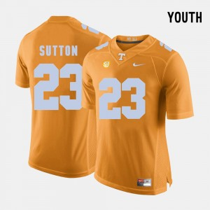 Cameron Sutton UT Jersey College Football Kids #23 Orange 233108-745
