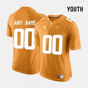 #00 College Limited Football Kids UT Customized Jerseys Orange 727014-904