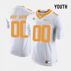 UT Custom Jersey For Kids #00 College Limited Football White 775962-688
