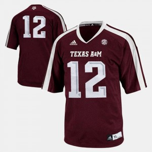 College Football Burgundy For Kids Texas A&M Jersey #12 880631-660