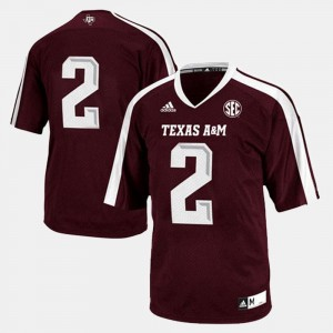 For Men College Football Maroon Texas A&M Jersey #2 598570-470