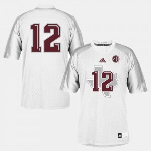 College Football Youth(Kids) Texas A&M Jersey White #12 945018-929