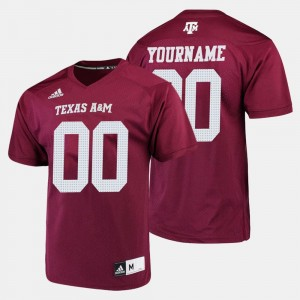 #00 Maroon Mens Texas A&M Custom Jerseys College Football 302629-384