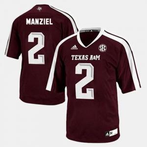Johnny Manziel Texas A&M Jersey College Football #2 Men Red 270337-505