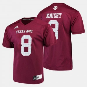 #8 For Men's Maroon Trevor Knight Texas A&M Jersey College Football 203214-447