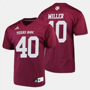 College Football #40 Von Miller Texas A&M Jersey For Men Maroon 361260-986