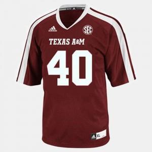 College Football Red #40 Men Von Miller Texas A&M Jersey 964017-508