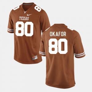 Men's Burnt Orange College Football Alex Okafor Texas Jersey #80 169149-679
