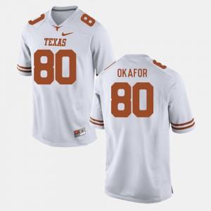 Men White College Football #80 Alex Okafor Texas Jersey 704570-260