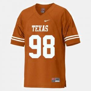 College Football Brian Orakpo Texas Jersey #98 Orange Men's 651763-465