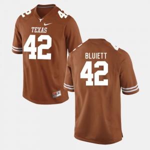 Burnt Orange College Football Caleb Bluiett Texas Jersey #42 Men's 731845-969