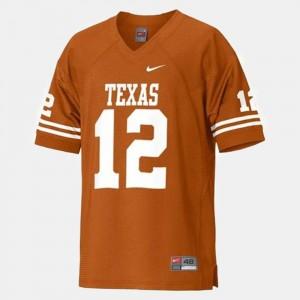 Colt McCoy Texas Jersey Orange College Football #12 Kids 890999-728