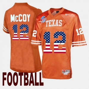 #12 For Men Colt McCoy Texas Jersey Orange Throwback 125280-933