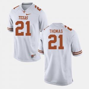 #21 White College Football Mens Duke Thomas Texas Jersey 588097-730