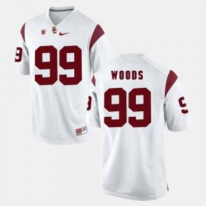 Antwaun Woods USC Jersey Men's White #99 Pac-12 Game 957873-446