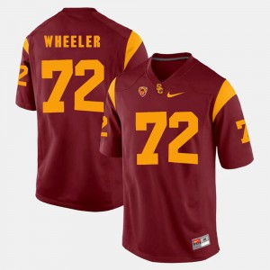 For Men Red #72 Pac-12 Game Chad Wheeler USC Jersey 462604-861