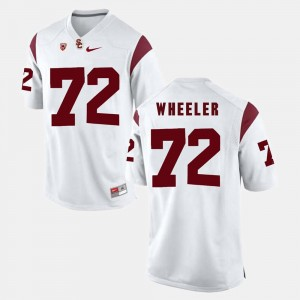 #72 Pac-12 Game For Men Chad Wheeler USC Jersey White 247976-359
