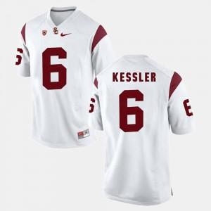 Pac-12 Game #6 Men's White Cody Kessler USC Jersey 554647-185